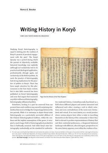 Writing history in Koryŏ - Korean Histories