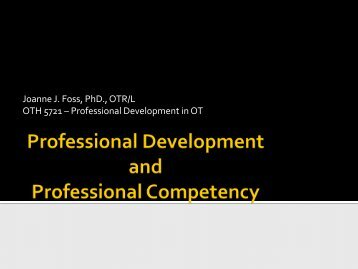 Professional Development and Professional Competency