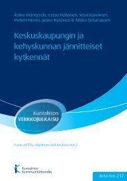 Keskuskaupungin ja kehyskunnan jännitteiset kytkennät - Kunnat.net