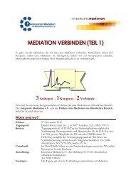 mediation verbinden (teil 1) - Förderverein Mediation im öffentlichen ...