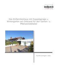Das Einfamilienhaus mit Doppelgarage u. Wintergarten am Ortsrand ...