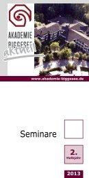 Seminarprogramm in Akademie-Aktuell zum Download