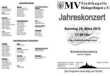 Jahreskonzert 2012 - Musikverein Stadtkapelle Holzgerlingen