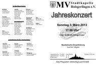 Jahreskonzert 2013 - Musikverein Stadtkapelle Holzgerlingen