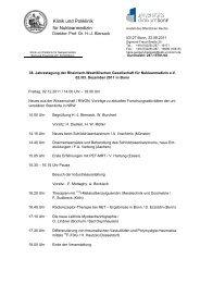 RWGN Fortbildungsprogramm 2011