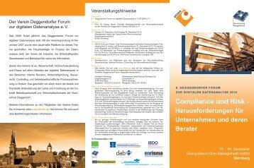 Compliance und Risk - - Deggendorfer Forum zur digitalen ...