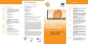 3. Deggendorfer Forum zur digitalen Datenanalyse 2007