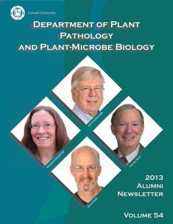 2012-2013 Department Alumni Newsletter - Department of Plant ...