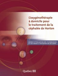 céphalée de Horton - INESSS