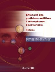 Efficacité des prothèses auditives à microphones ... - INESSS