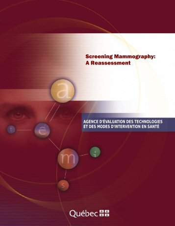 Screening Mammography: A Reassessment - Internal System Error