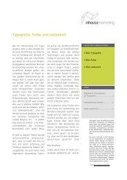 Typografie, Farbe und Lesbarkeit - Inhousemarketing.de