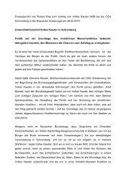 Pressebericht von Robert King zum Vortrag von Volker Kauder MdB ...