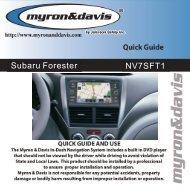 Forester Quick Guide.pdf - Myron & Davis