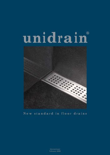 unidrain® New standard in floor drains - Tengi