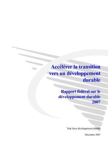 Accélérer la transition vers un développement durable
