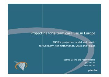 Projecting long-term care use in Europe