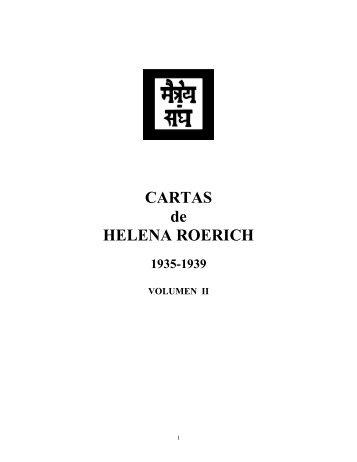 CARTAS de HELENA ROERICH - Agni Yoga Society