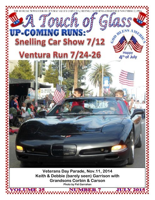 Central Valley Corvettes - July Magazine