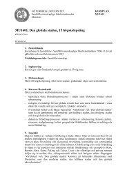 MU1601, Den globala staden, 15 högskolepoäng - Göteborgs ...