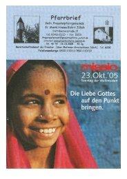 Pfarrbrief vom 30.10.2005 - Propsteipfarrgemeinde St. Mariä ...