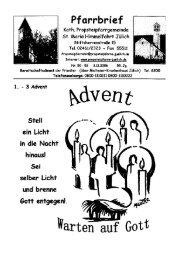 Pfarrbrief vom 03.12.2006 - Propsteipfarrgemeinde St. Mariä ...