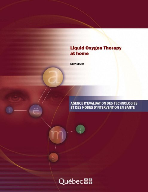 Liquid Oxygen Therapy at home - INESSS