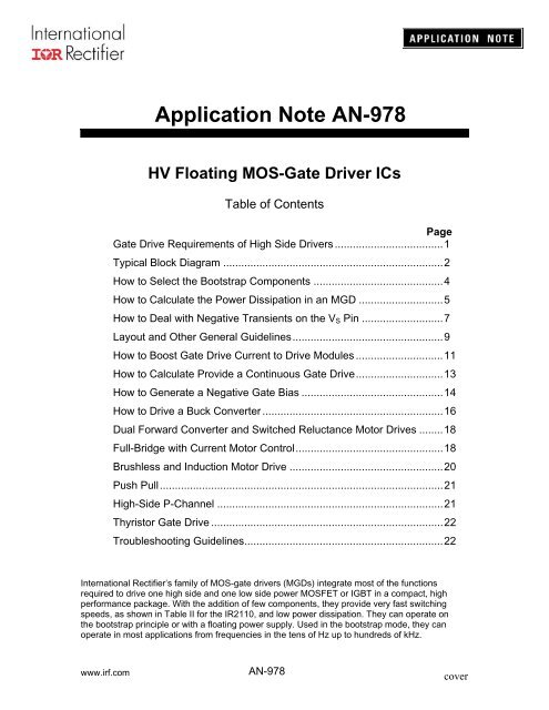 Application Note AN-978 - Free