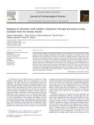 Mapping of subsurface shell midden components through percussion