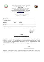 modulo Licei - Convitto Nazionale Vittorio Emanuele II