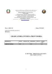 graduatoria interna provvisoria - Convitto Nazionale Vittorio ...