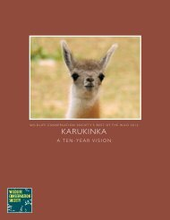 Karukinka A Ten-Year Vision - Wildlife Conservation Society