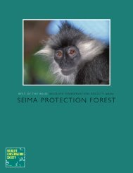 SEIMA PROTECTION FOREST - Wildlife Conservation Society