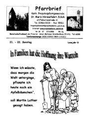 Pfarrbrief vom 27.08.2006 - Propsteipfarrgemeinde St. Mariä ...