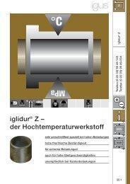 iglidur® Z – der Hochtemperaturwerkstoff - Igus