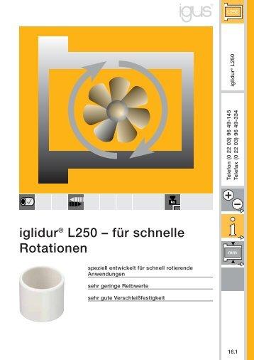 iglidur® L250 – für schnelle Rotationen - Igus