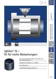 iglidur® Q – fit für hohe Belastungen - Igus