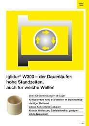 iglidur® W300 – der Dauerläufer: hohe Standzeiten, auch für ... - Igus