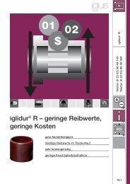 iglidur® R – geringe Reibwerte, geringe Kosten - Igus