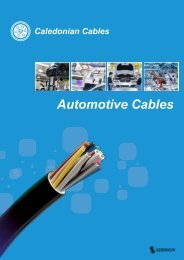 Automotive Cables|caledonian cables|FLY|FL2Y