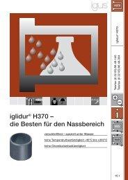 iglidur® H370 – die Besten für den Nassbereich - Igus