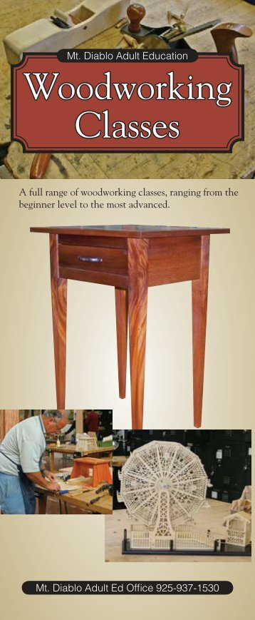 Woodworking Classes - Diablo Woodworkers