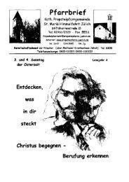 Pfarrbrief vom 10.04.2005 - Propsteipfarrgemeinde St. Mariä ...