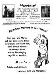 Pfarrbrief vom 30.07.2008 - Propsteipfarrgemeinde St. Mariä ...