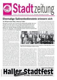 am Freitag, 1. Juli und Samstag, 2. Juli - gemeinsam ... - in Hall in Tirol
