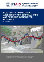 electricity trading risk assessment for georgian hpps - Hydropower ...