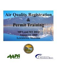 Air Quality Registration and Permit Training, August 11, 2009