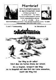 Pfarrbrief vom 12.03.2006 - Propsteipfarrgemeinde St. Mariä ...