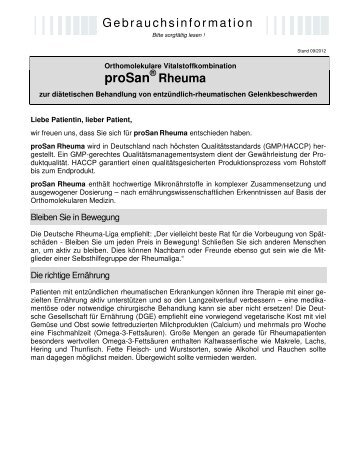 Rheuma - prosan.de