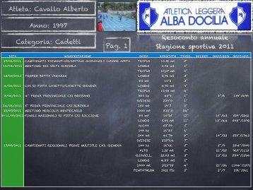 Alberto cavallo 2011 - Atletica Quadrifoglio
